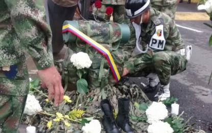 Soldados en Cali despidieron compañeros asesinados por las FARC
