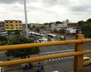 Caravana de apoyo a transportadores fue detenida por el ESMAD