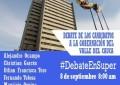 8 de septiembre, debate de los 6 candidatos a la Gobernación del Valle.
