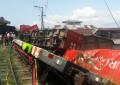 Tres viviendas afectadas tras descarrilamiento de tren en el Ferrocarril del Pacífico