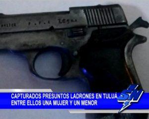4 capturados por hurto en Tuluá entre ellos una mujer y un menor de edad