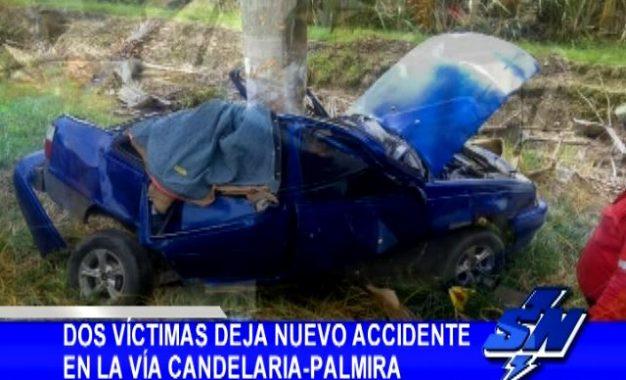 Accidente en la vía Candelaria-Palmira dejó dos víctimas mortales