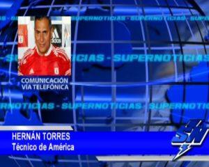 El Técnico de América Hernán Torres no comenta  sus expectativas para el partido de este Domingo contra Llaneros