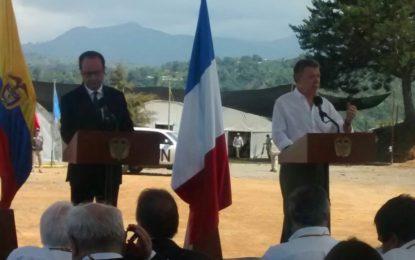 Visita histórica de Presidente de Francia al Cauca
