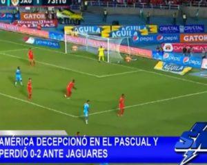 América de Cali decepcionó al caer 0-2 ante Jaguares