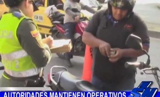 """""""Plan motos"""" en Cali, Policía acompaña operativos"""