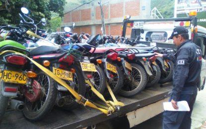 """Extinción de dominio a 111 motos de banda delincuencial """"Motoratones"""""""