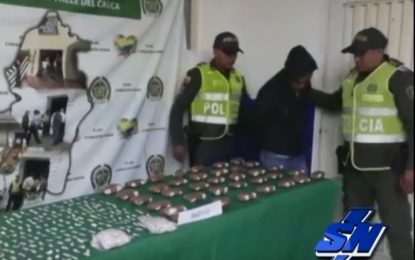 Le incautaron más de 15 mil dosis de bazuco cerca a Colegio en Florida-Valle