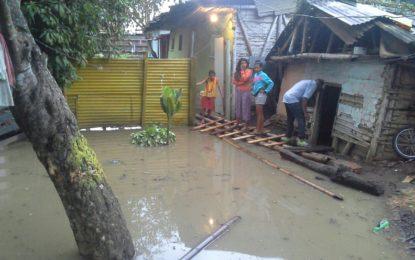 Lluvias causan estragos en Palmira, varias zonas afectadas