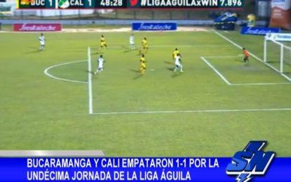 Bucaramanga y Cali empataron 1-1 por la Fecha #11 Liga Águila supernoticias