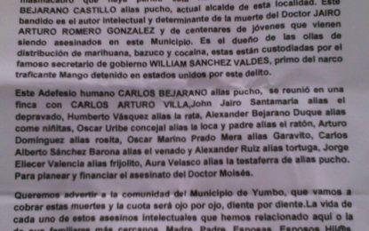 Autoridades investigan panfletos amenazantes en Yumbo