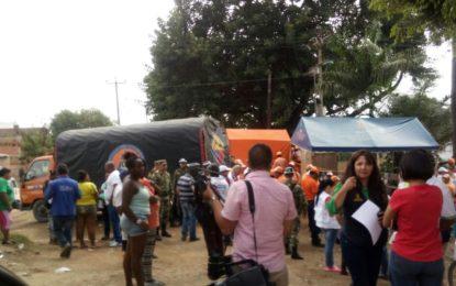 Llegan las ayudas humanitarias para damnificados en Juanchito