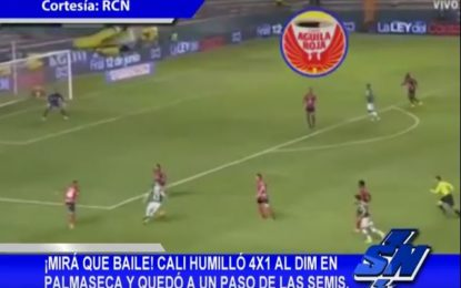 Deportivo Cali goleó 4-1 al DIM y quedó a un paso de las semis