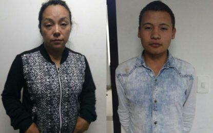 Madre e hijo capturados por fingir secuestro para extorsionar al padre
