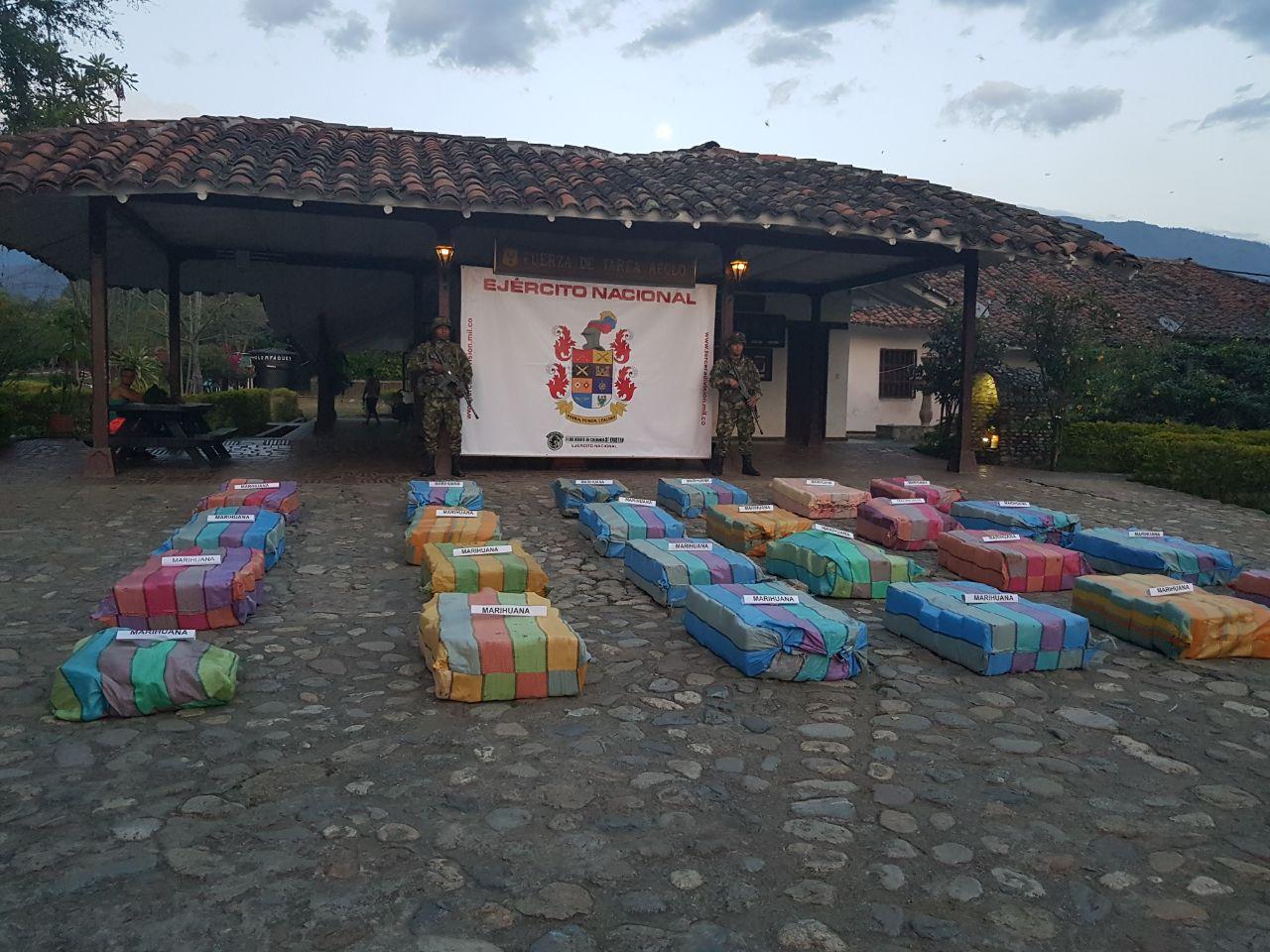 En Santander de Quilichao cayó un cargamento de más de media tonelada de marihuana