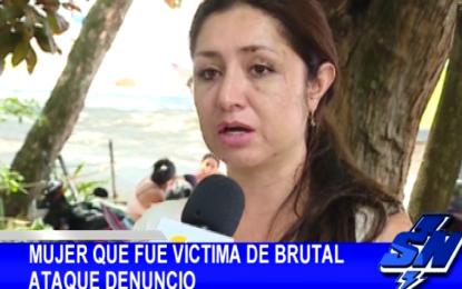 Mujer maltratada brutalmente por su expareja en Univalle, decidió denunciar