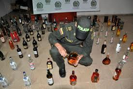 700 botellas de licor adulterado incautadas en el Valle del Cauca