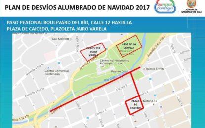 Este será el plan de movilidad para disfrutar el alumbrado en el centro de la ciudad