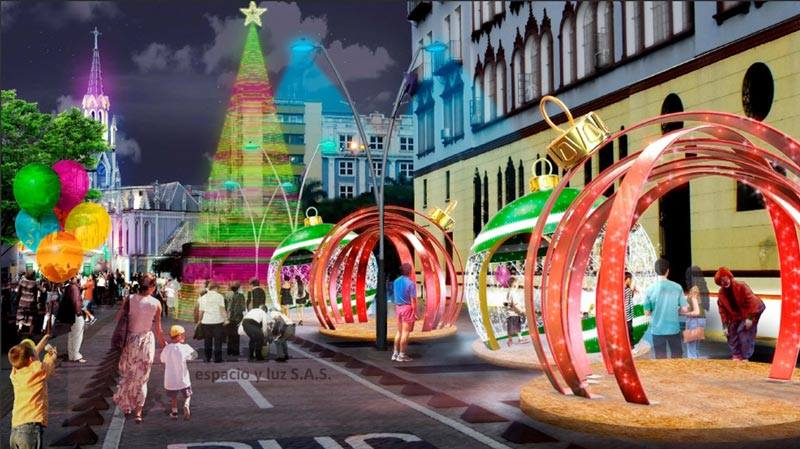 Autoridades en Cali refuerzan medidas en el marco del alumbrado navideño