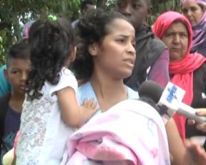 Protestas en sector de Polvorines por retención de algunos invasores