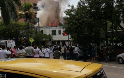 Incendio dejó sin vida a un canino y grandes pérdidas en vivienda de Cali