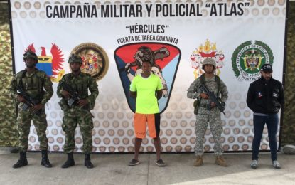 "Cayó en Tumaco alias ""Javier"" hermano de alias ""Guacho"""