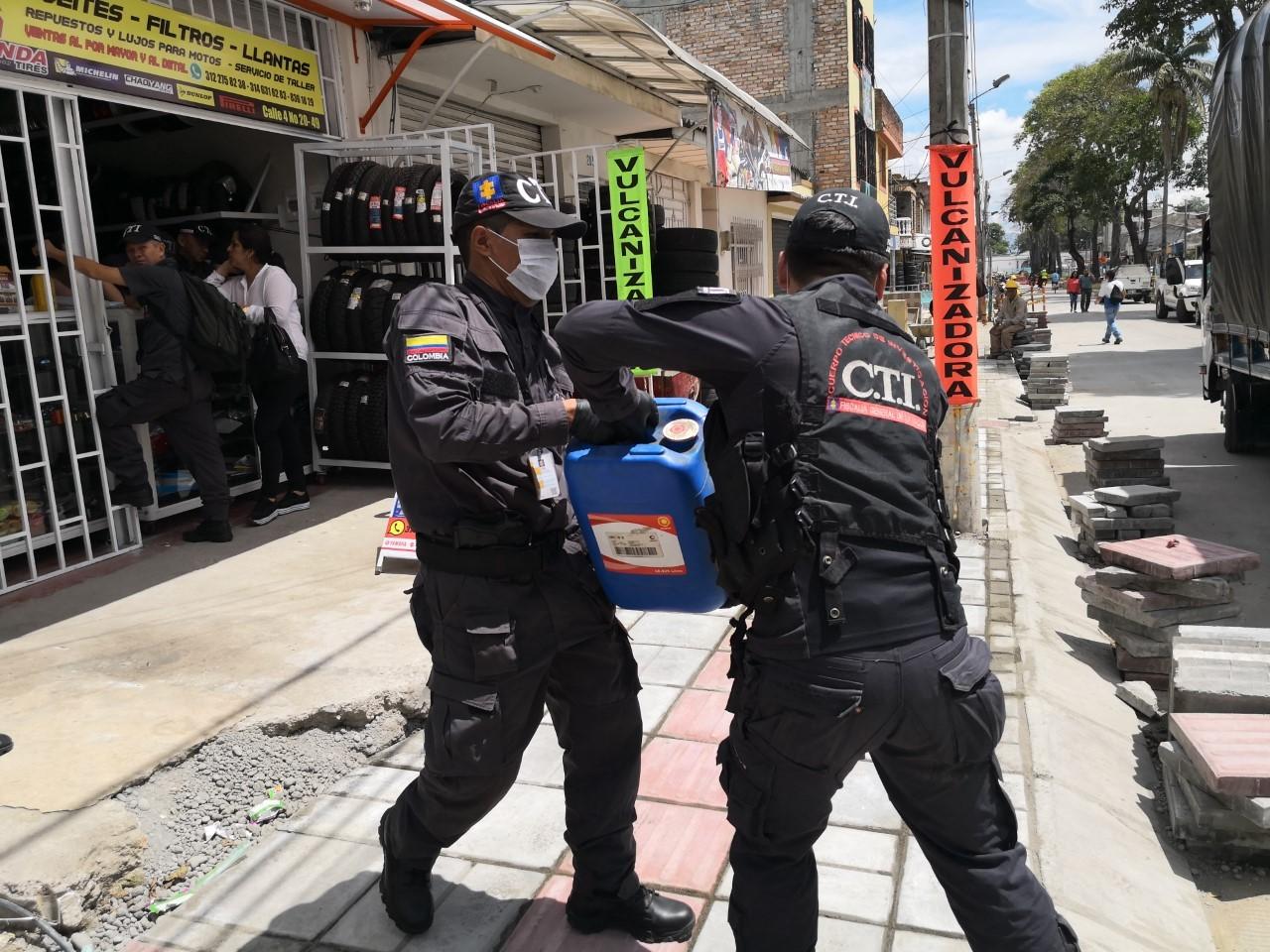 La Fiscalía impactó una banda delincuencial que reutilizaba lubricantes para carros y los vendía como originales en Popayán