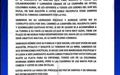 Alerta por incremento de amenazas a líderes sociales en el Valle del Cauca