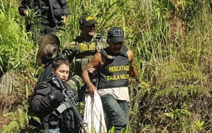 Rescatan a ciudadano secuestrado en el Tambo
