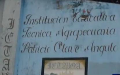 Niños de Puerto Merizalde se encuentran sin docentes e infraestructura