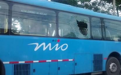 Dos personas heridas, En ataque vandálico al MIO