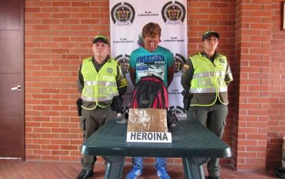Incautados 1.330 gramos de heroína en la vía Cali- Andalucía