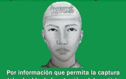 Retrato hablado del presunto agresor al ex arquero del América, Alexis Viera.