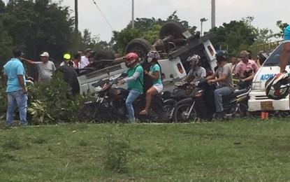 Cuatro lesionados en volcamiento de Jeep