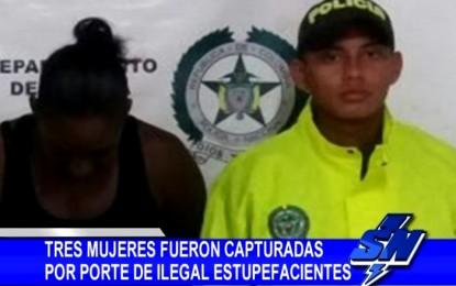 Tres mujeres fueron capturadas por porte ilegal de estupefacientes