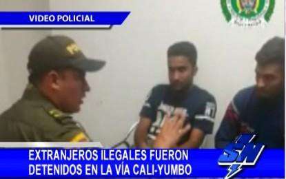 6 Extranjeros ilegales fueron capturados en vías del Valle