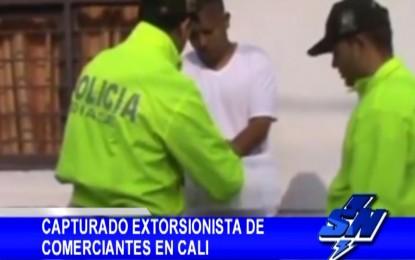 Capturado alias «Piquiña» presunto extorsionista de comerciantes en Cali
