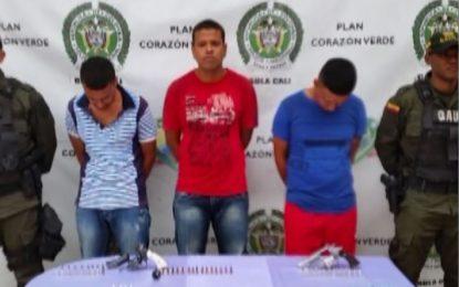 Capturados tres presuntos extorsionistas de la banda «Polvorín»