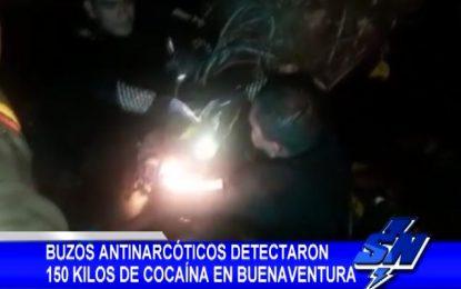 Buzos antinarcóticos detectaron 150 kilos de cocaína en Buenaventura