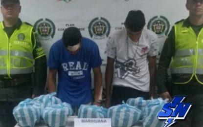 7 mil gramos de marihuana que eran transportados en una motocicleta fueron incautados