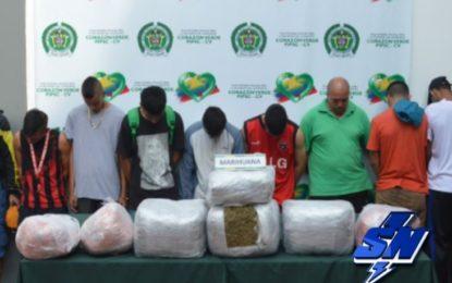 7 capturados y 4 aprehendidos dedicados al tráfico de estupefacientes