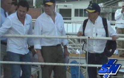 Presidente Santos solicitó acelerar obras del Jarillón Rio Cauca