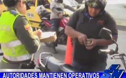 «Plan motos» en Cali, Policía acompaña operativos