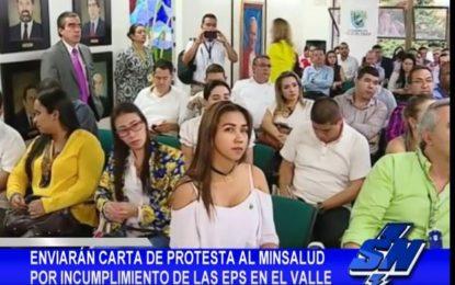 Carta de protesta a Minsalud por imcumplimientos de EPS en el Valle del Cauca