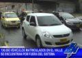 130 Mil vehículos matriculados en el Valle no pagan impuestos