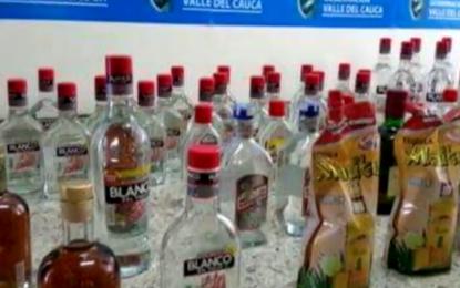 Incautan licor adulterado en Dagua y Jamundí