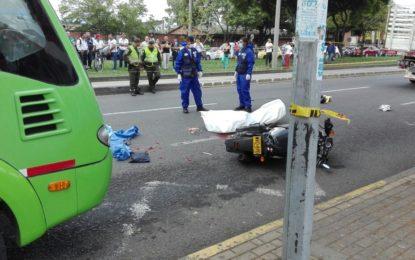 Motociclista perdió la vida en accidente de tránsito en Cali