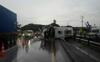 Accidente de tránsito en Buga deja 19 personas heridas