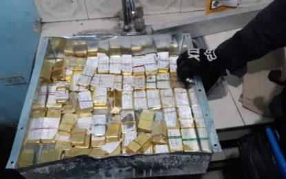 54 kilos de oro en forma de lingotes encaletados en vivienda del B/12 de Octubre en Cali
