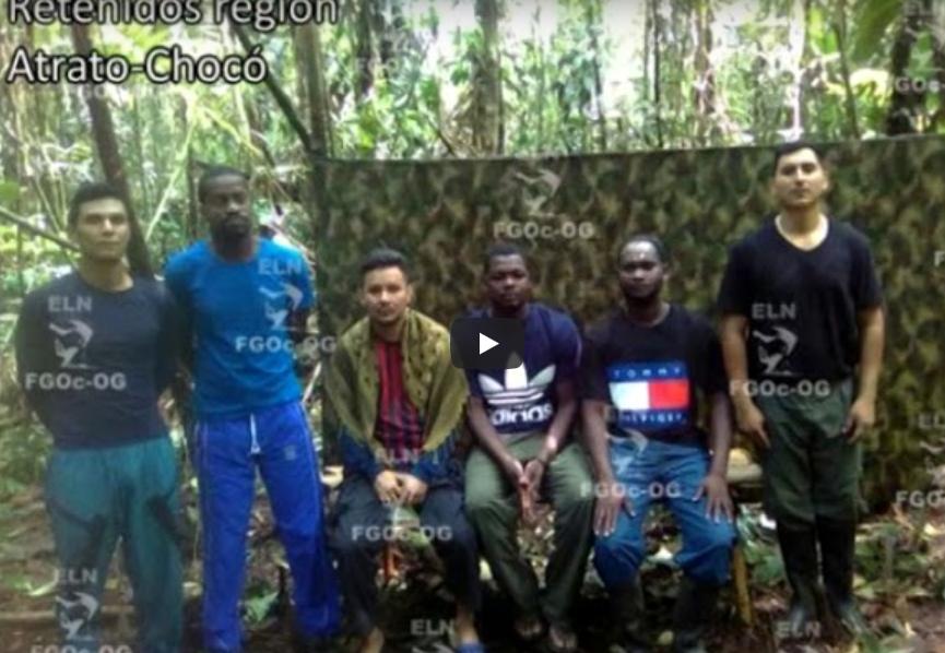 6 secuestrados por ELN en Chocó podrían ser liberados ésta semana